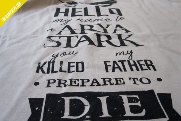 Camiseta hello my name is Arya