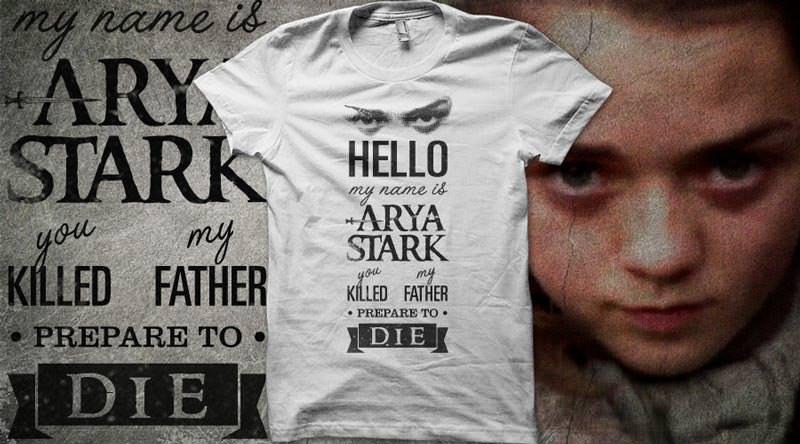 Camiseta Juego de Tronos Arya Stark
