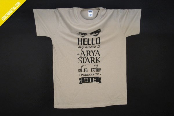 Camiseta Juego de Tronos Arya