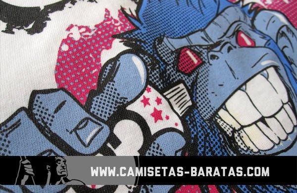 Camiseta personalizada serigrafía 4 tintas