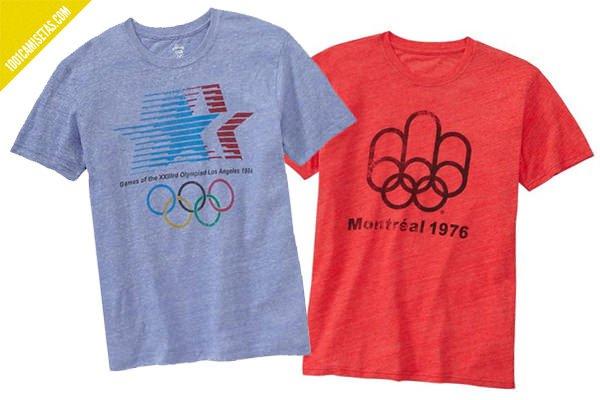 Camiseta vintage juegos olimpicos