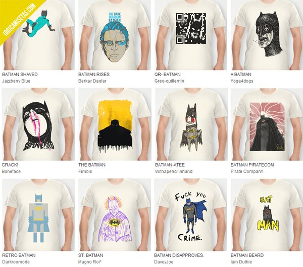 Camisetas Batman Society6