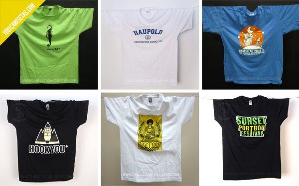 Camisetas personalizadas serigrafía baratas
