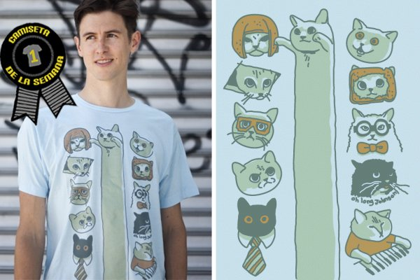 Camiseta de la semana lol cats