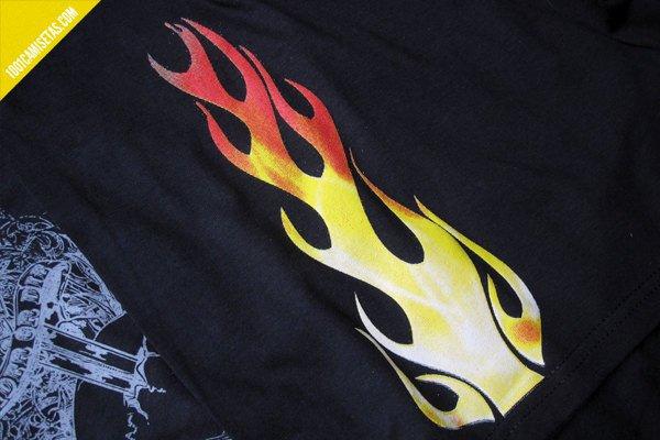 Camiseta fuego hotroad