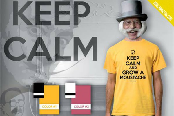 Camiseta Keep Calm and grow a moustache