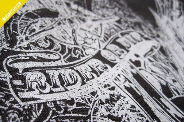 Camiseta serigrafia una tinta