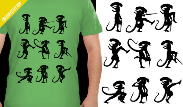 Camiseta Ministry of Alien silly walks
