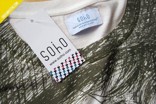 Camisetas etiquetas personalizadas Soiho
