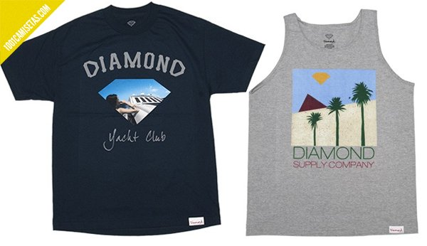 Camisetas retro Diamond supply