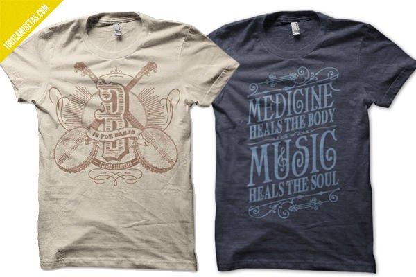 Camisetas tipografia status serigraph