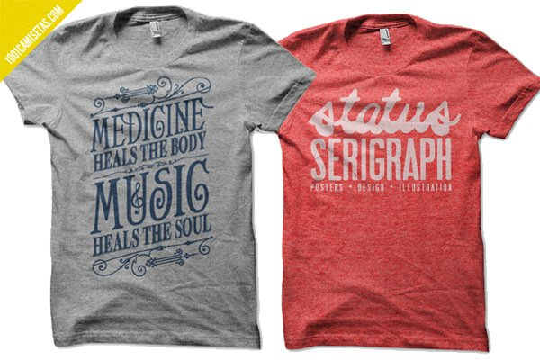 Camisetas tipografía satus serigraph