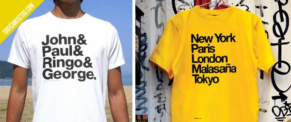 Camisetas tipográficas helvetica
