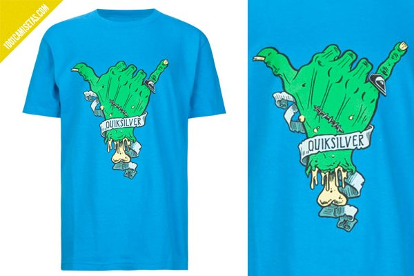 Camiseta zombie Quicksilver