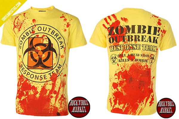 Camisetas zombies rocknroll market
