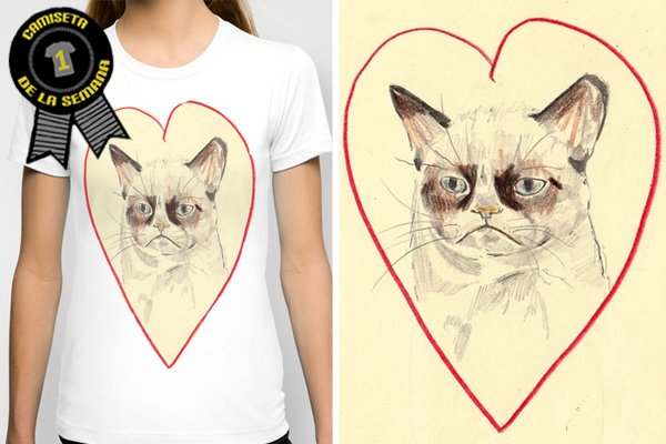 Camiseta de la semana Grumpy cat love