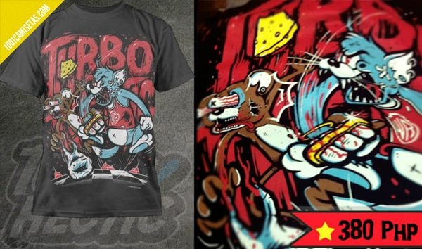 camiseta gato turbohectic