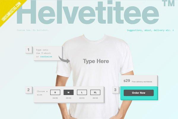 Camiseta personalizada helvetica