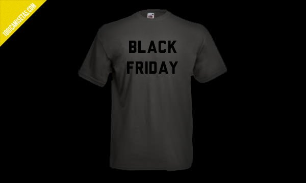 Camisetas Black friday