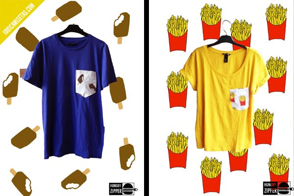 Camisetas hungry zippers