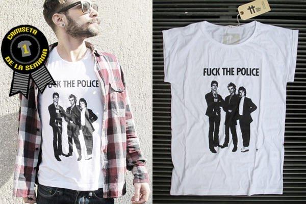 Camiseta de la semana fuck the police