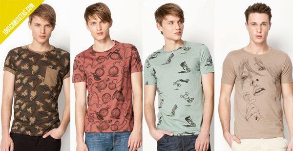 Camisetas Bershka hombre