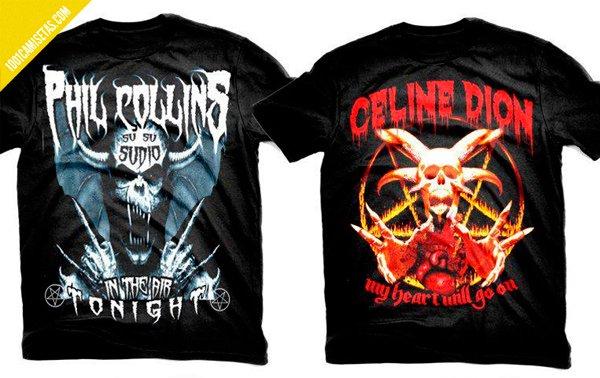 Camisetas heavys Celine dion