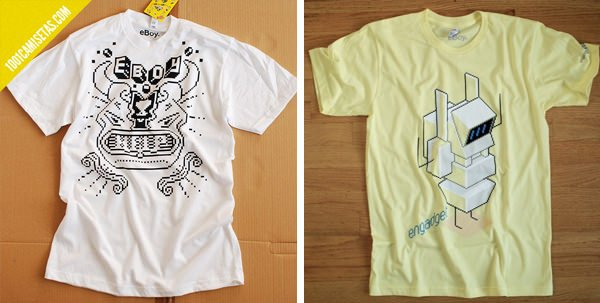 Camisetas robots eboy