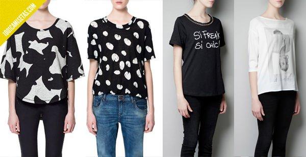Camisetas zara mujer