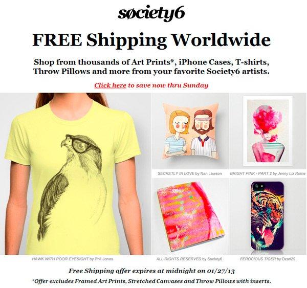 Descuento Society6