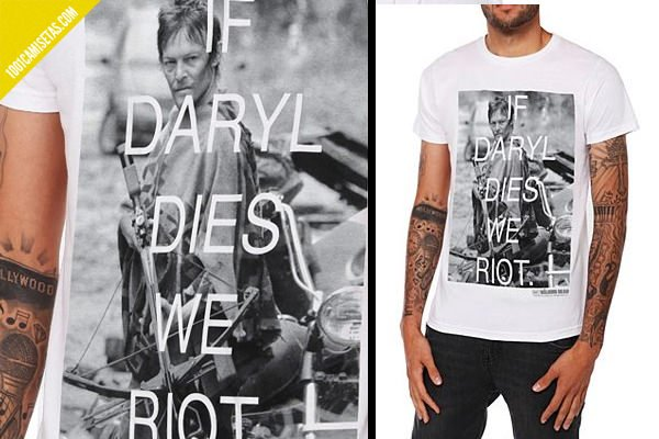 Camiseta walking dead Daryl