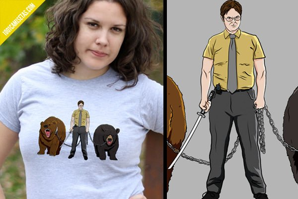 Camisetas walking dead the office