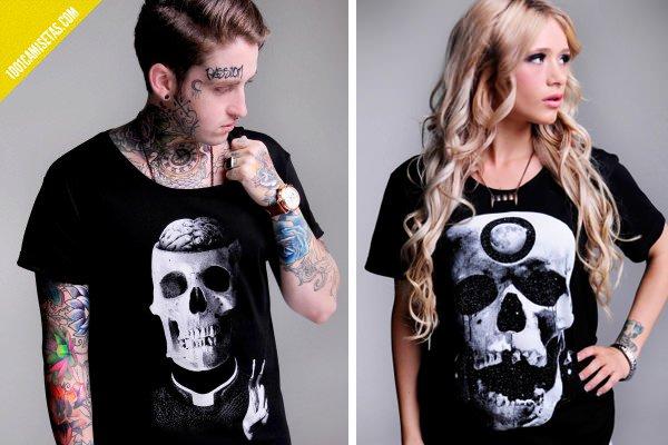 Camisetas calaveras scaretildeath
