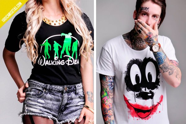 Camisetas Disney zombies
