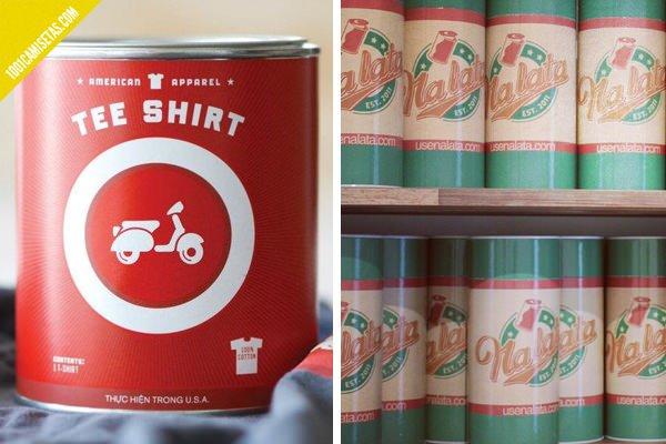 Camisetas en lata