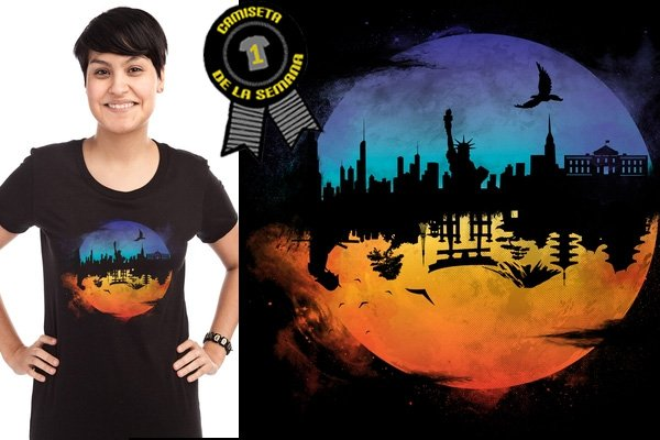 Camiseta de la semana against the moon