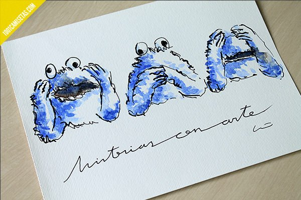 Cookie monster art