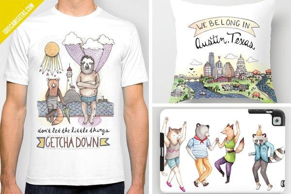 Camisetas cojines Brooke weeber