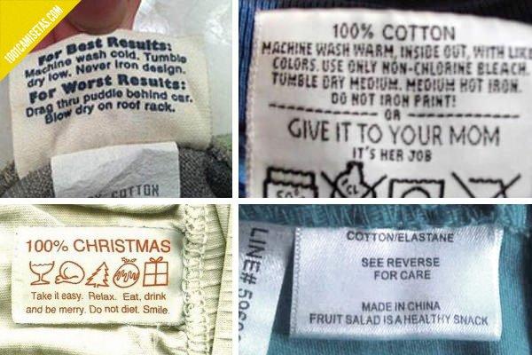 Camisetas etiquetas divertidas