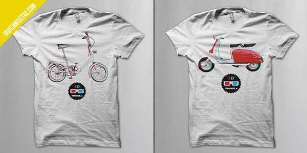 Camisetas vintage vespa