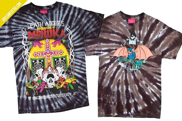 Serigrafia sobre camisetas tie dye