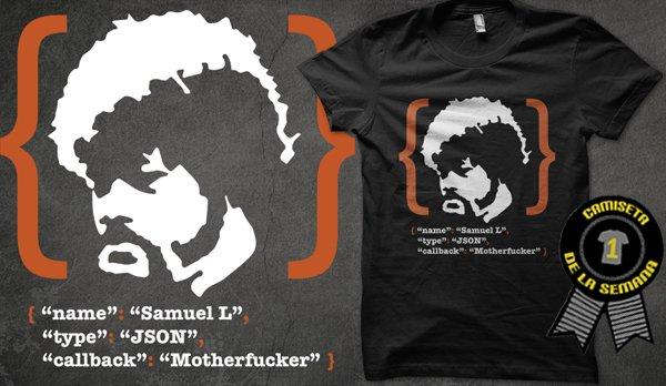 Camiseta de la semana samuel l json