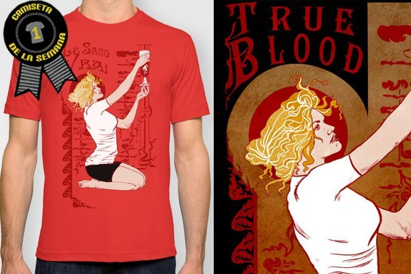 Camiseta de la semana true blood