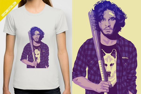 Camiseta game of thrones jon snow