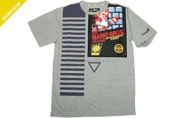 Camiseta Mario Bros cartucho nintendo