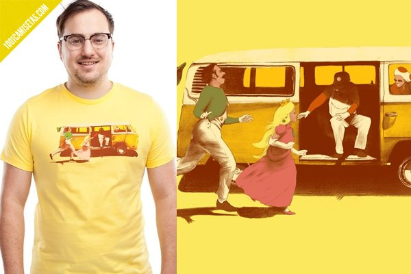 Camiseta mario little miss sunshine