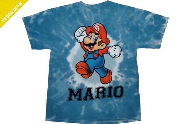 Camiseta super Mario tie dye