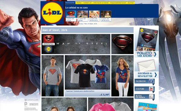 Camisetas superman Lidl