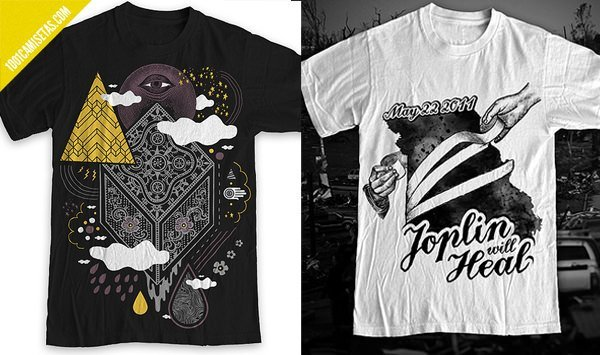 Camisetas estampadas diseño