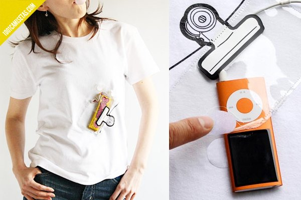Camisetas con bolsillos